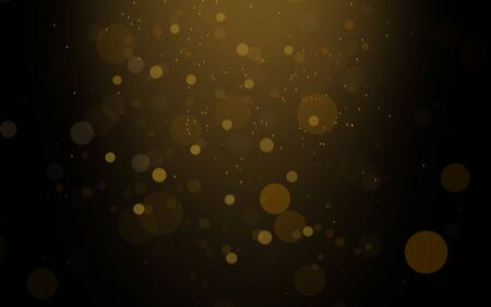 Abstract glitter gold bokeh background, overlay light effect