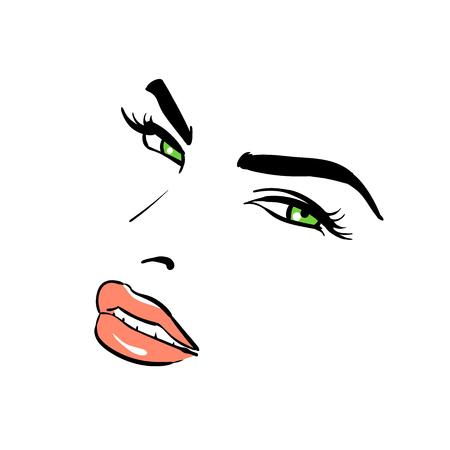A womans face. Banque d'images - 94541217