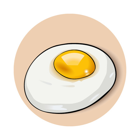Scrambled eggs Omelette illustration.