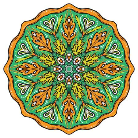 Simple colorful abstract mandala. Stock Photo