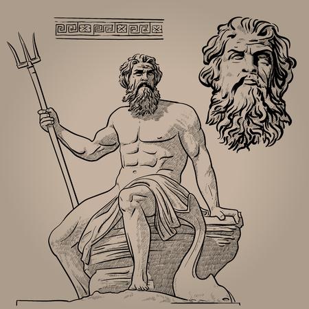 Poseidon. Gott des Meeres, der Erdbeben, des Bodens, der Stürme und der Pferde.