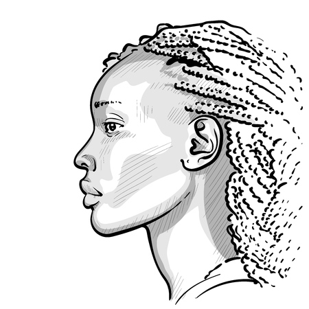 African woman with dreadlocks.