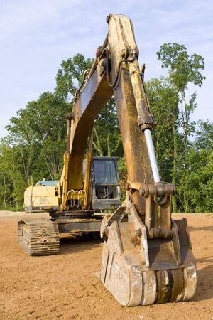 Hydraulic excavator from the front Stock Photo - 4190224