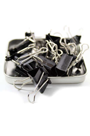 black paper clips, office accesssory Stock Photo - 16467772