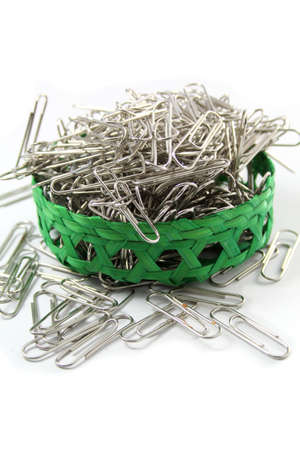 paper clips in a basket, office accesssory  Stock Photo - 16467777