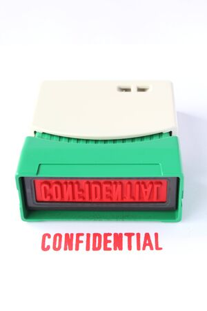 business confidentail stamper Stock Photo - 16467693