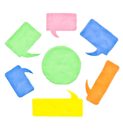 colorful balloon speech Stock Photo - 16809056