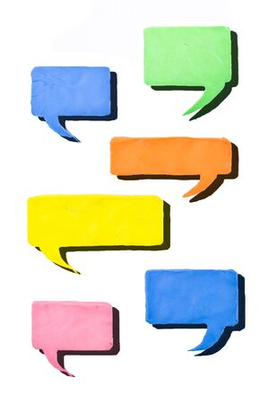 colorful balloon speech with shadow Stock Photo - 16809062