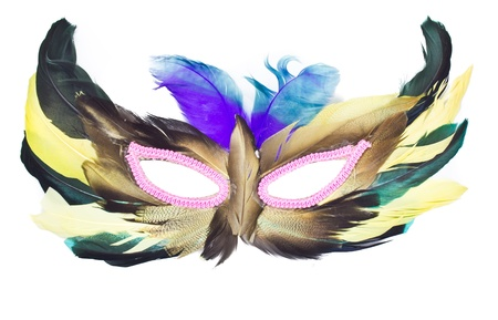 feather mask photo