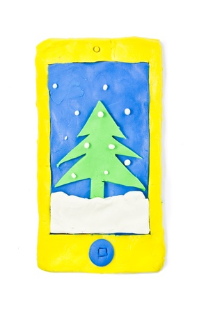 christmas smartphone display Stock Photo - 16809103