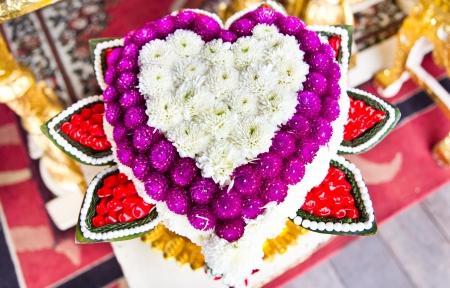 mix flowers in heart shape