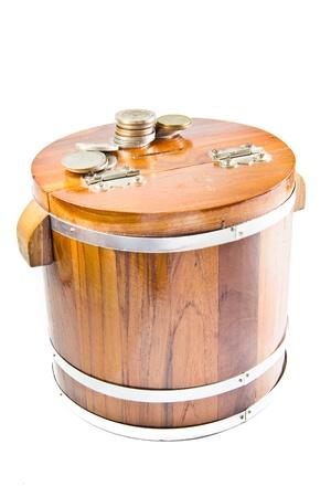wooden saving box photo