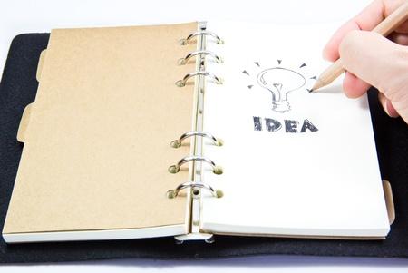 close up of drawing an idea plan Stock Photo - 19289758