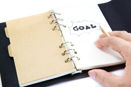 close up of drawing a goal plan Stock Photo - 19289763