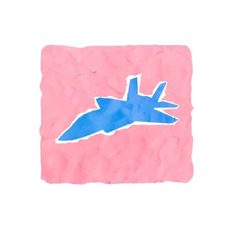 jetplane: jetplane icona a mano isolato su sfondo bianco