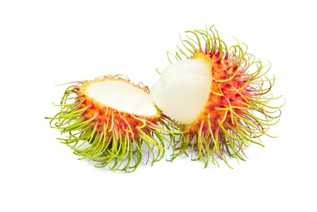 peel cover out and inside of rambutans