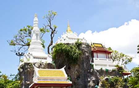 Buddha Temple on the top of  mountain in Thailand