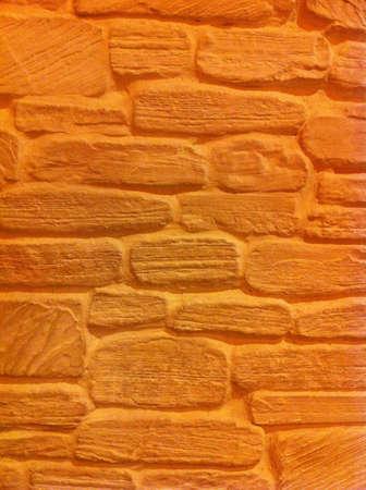 surface: Orange Wall Background Stock Photo