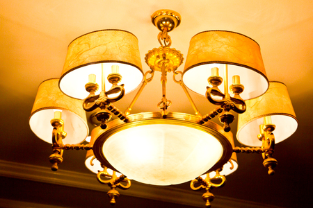 antique Lamps at night photo