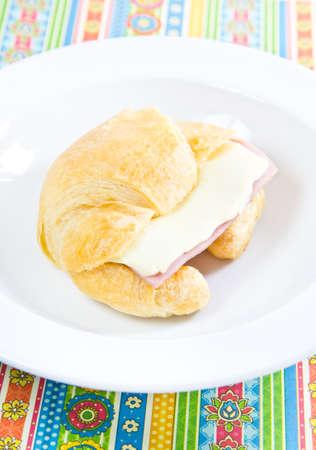 Fresh bake ham cheese croissant