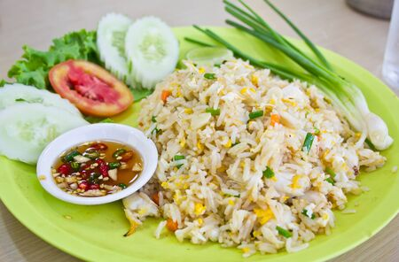 The crab fired rice, thai food