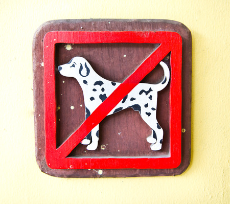 No Dogs Wooden Sign photo
