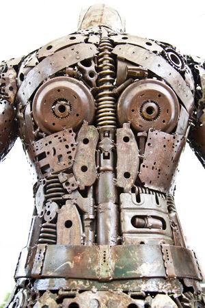 Metal Body Art of Cartoon super hero