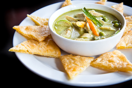 chicken green curry ,Traditional Indian food