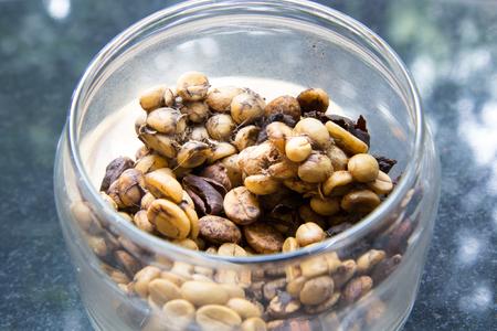 coffea: Raw civet coffee in the bowl, Thailand