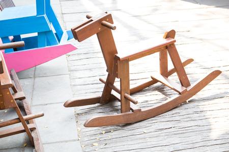vintage wooden rocking horses Zdjęcie Seryjne
