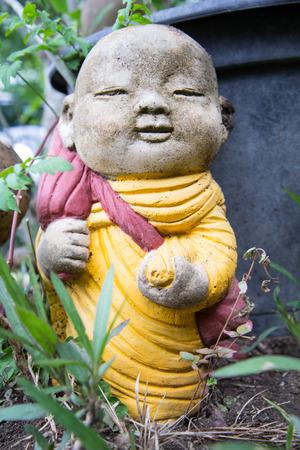 Little Buddha Rock in natural garden