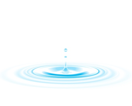 water surface: Falling water drop