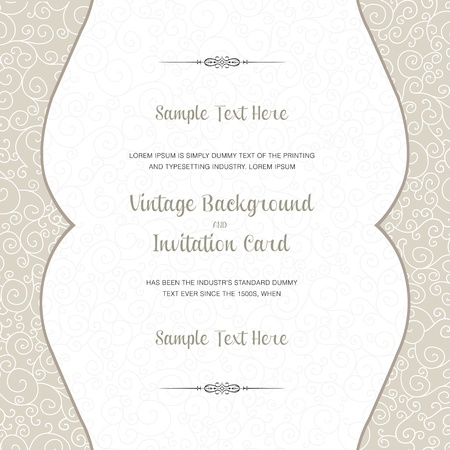 Wedding invitation card. Perfect as invitation or announcement. Vector