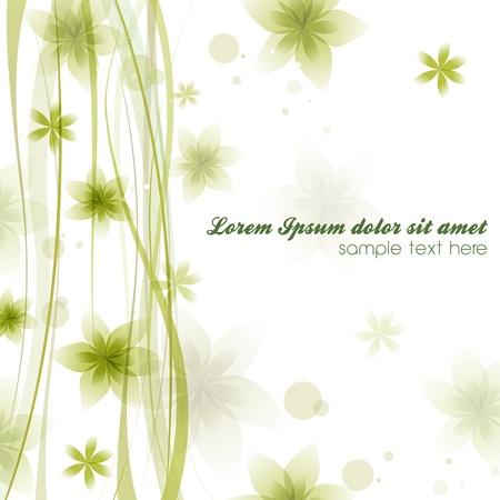 spring time: Elegant spring ornament background with floral illustration