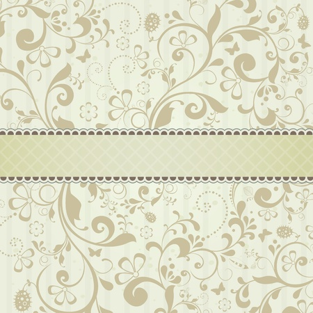 Beautiful template frame design for greeting card Vector