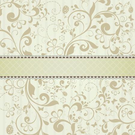 Mooie sjabloon frame ontwerp voor wenskaart Stockfoto - 12495066
