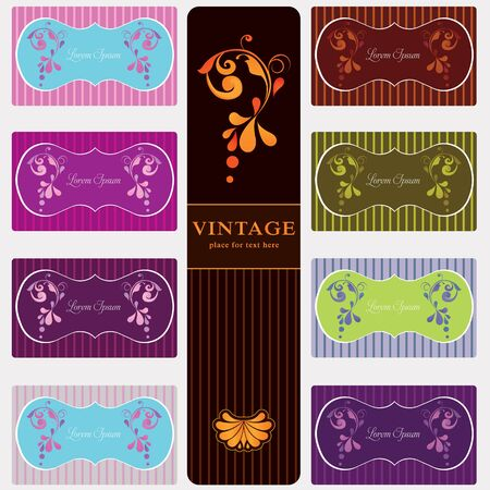 Beautiful vintage labels set Vector