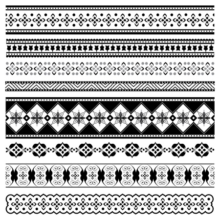 Set of elegant borders for design Stock Vector - 12495067