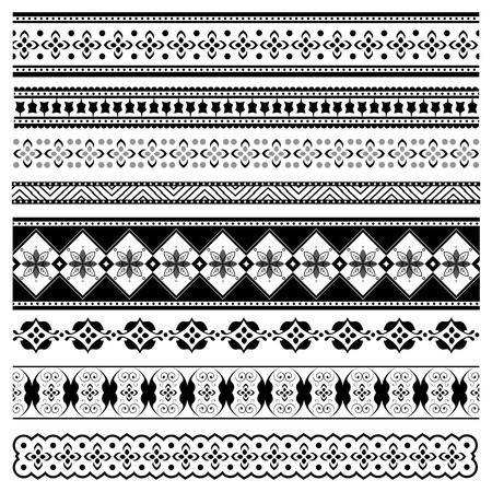 intricate: Set of elegant borders for design Illustration
