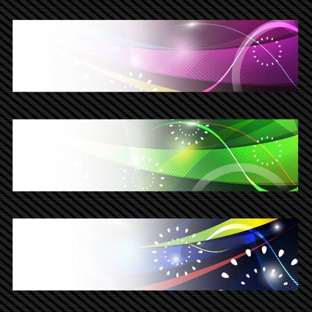 Abstract trendy banner or header set 01 Vector