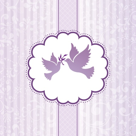 Elegant greeting flowers background illustration Vector