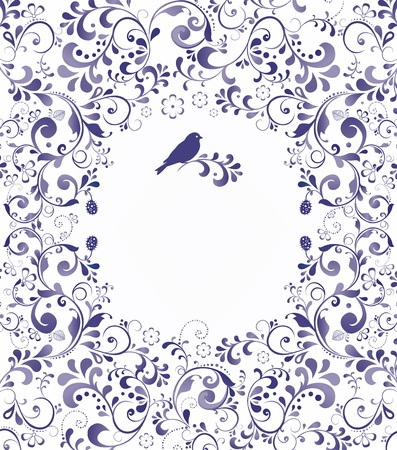 linework: Beautiful floral romantic for greeting card illustration background