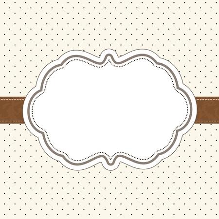 Retro invitation card Stock Vector - 12495229