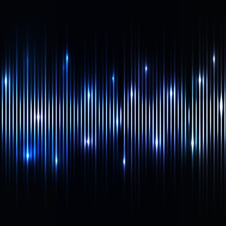 Abstract blue lights background Illustration