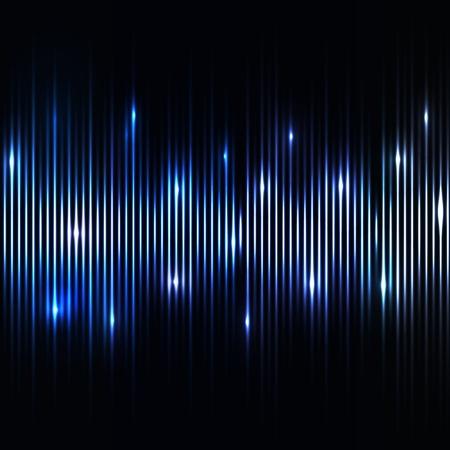 neon wallpaper: Astratto sfondo luci blu Vettoriali