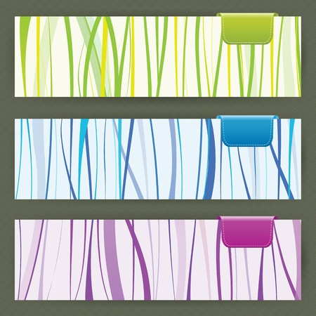 Abstract trendy banner of header set 02