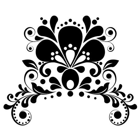 floral pattern motif: Elegant floral design element