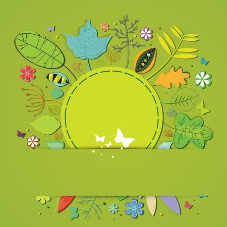 Cute spring illustration card Vector