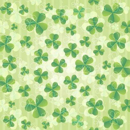 seamless clover: Beautiful St. Patricks day background illustration