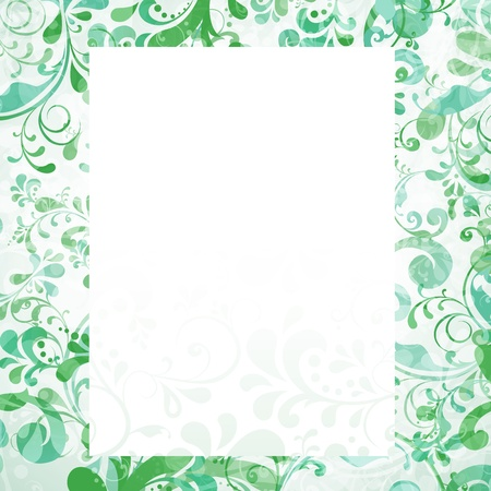 Template frame design for various purposes floral motive background illustration Vector